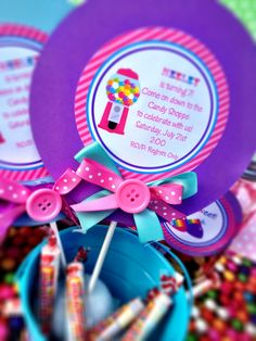 Candy Land Birthday Party Invitations, Personalized and Printed Candy Shoppe Birthday Party Invitations. $22.00, via Etsy.