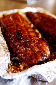 Spicy Dr Pepper Ribs by Ree Drummond / The Pioneer Woman! Ree, I make these ribs using the 'secret sauce' all the time, but I use Pork loin & put the darn thing into the Crock Pot (my favorite thing next to Queso) for about 12 hours! Rib Recipes, Great Recipes, Cooking Recipes, Favorite Recipes, Recipies, Good Food, Yummy Food, Pork Ribs, Bbq Ribs