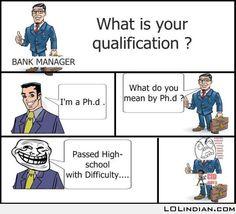 I am a phd