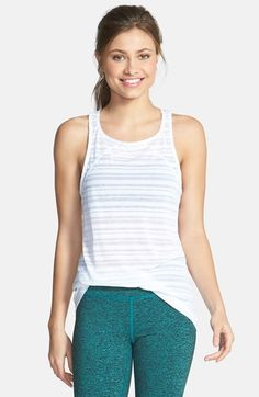 Zella 'Hot Studio' Burnout Racerback Layering Tank available at #Nordstrom
