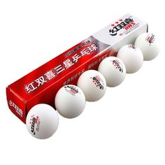 6 Pcs/Box Ping Pong Balls. Professional 3 Stars DHS White 2.8G Table Tennis Balls