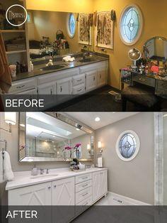Aurora Master Bathroom Before & After - Sebring Services