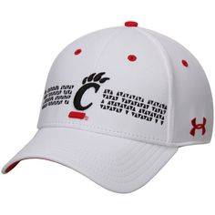 Under Armour Cincinnati Bearcats White Renegade Structured Flex Hat #bearcats #cincinnati #college