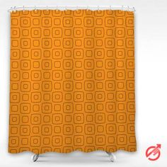 Square Orange Pattern Shower Curtain #decorative #bathroom #curtain #gift #present #favorite