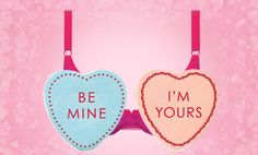 Happy Valentine's Day! Design Your Own Barely There Candy Heart Bra!