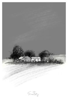 Yorkshire farm, Artist Sean Briggs producing a sketch a day, prints available at https://www.etsy.com/uk/shop/SketchyLife  ##artist ##Etsyshophttp://etsy.me/1rARc0J #farm ##illustration#ink#print#draw©#Sean_Briggs #art #drawing #sketch #yorkshire