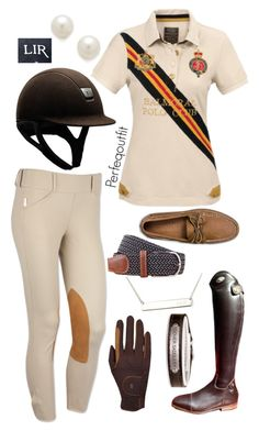 """Clinic riding outfit"" by ponylover42 ❤ liked on Polyvore featuring Joules, Kenneth Jay Lane, Parlanti, Roeckl Sports and Sperry Top-Sider"
