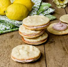 Lemon Cookies with White Chocolate Chips & Strawberry Buttercream Recipe - RecipeChart.com