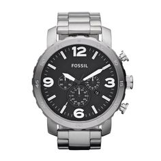 FOSSIL JR1353 Nate Chronograph Stainless Steel Watch | Your #1 Source for Watches and Accessories