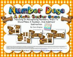 Number Dogs - 3 Math Center Games - Ways to Show numbers 0-20, Adding, Subtracting, Tally marks...Super fun - $