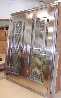 Wooden Front Door Design, Front Gate Design, Double Door Design, Door Gate Design, Steel Grill Design, Steel Gate Design, Grill Door Design, House Main Gates Design, Main Door Design