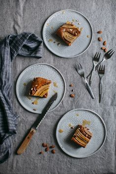 Gluten-free Banana-Nut-Butter Cake and Happy 2017 - Our Food Stories