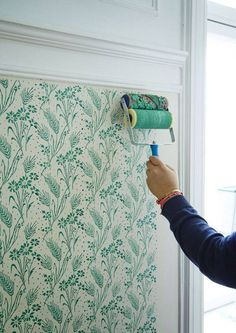 DIY painted floral pattern