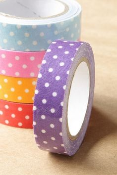 Cute Fabric Adhesive Decorative Tape - not sure how I'd use it, but would love to have some on hand.