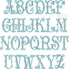 Arabesque Dots Embroidery Font 632-arabesque-dst