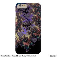 #Celtic Triskele Fractal Heart Knots iPhone Case