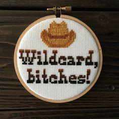 Wildcard Bitches  Modern Cross Stitch Art by EngineerOnBreak