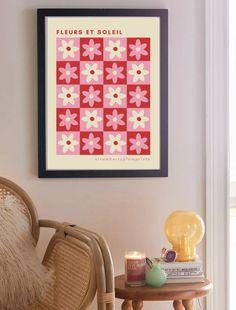 Red Room Decor, Pastel Walls, Bedroom Prints, Red Rooms, Home Printers, Art File, Bedroom Apartment, Flower Prints, Art Inspo