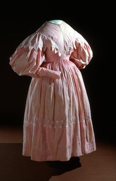 Day dress (c. Artist/s name (ENGLAND) Medium cotton Place/s of Execution (England) Accession Number Credit Line National Gallery of Victoria, Melbourne 1800s Fashion, 19th Century Fashion, Victorian Fashion, Vintage Fashion, Victorian Era, Fashion Women, Women's Fashion, Vintage Outfits, Vintage Dresses
