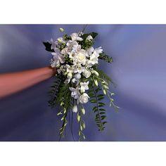 Ramo de novia de orchideas dendrobium, rosas, fresias, alstroemerias e hypericum - ANABEL FLORES Y PLANTAS