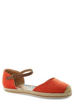 Viterbo So Beautiful Flat in Rosso, #ModCloth