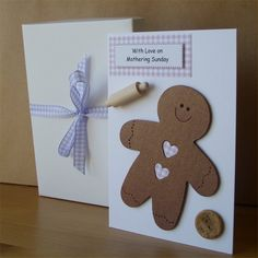 Personalised Mother's Day Card - Gingerbread Man by Aunty Joan Crafts