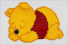 Nieuwe hobby: strijkkralen - Nobody ELSe Perler Bead Templates, Pearler Bead Patterns, Perler Patterns, Perler Bead Disney, Perler Bead Art, Perler Beads, Winnie The Pooh, Skins Minecraft, Cross Stitch Pattern Maker