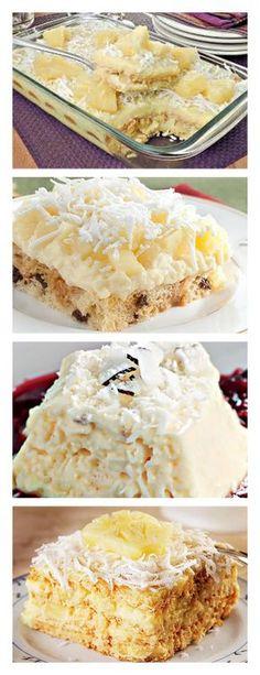 Pavê de Coco e Abacaxi veja>> salve este pin Inicie misturando o leite, o leite de coco, o creme de leite, o amido de milho e o açúcar e leve o creme ao fogo, mexendo #bolo#torta#doce#sobremesa#aniversario#pudim#mousse#pave#Cheesecake#chocolate#confeitaria