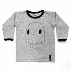 #repost @marakattimarssi -  Uusia paitoja Marakatti-haamu-printillä! Print design: @printtie #marakattimarssi #madeinfinland #uutuus #paita #lastenvaate #kotimainen #haamu #childrensclothing  #lastenvaatekarnevaali #helsinki #kellohalli