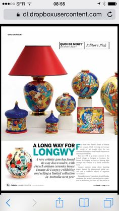 "Emaux de Longwy in ""French Living Australia"" déc. 2013"