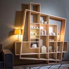 7 Terrific Modern Bookcase Ideas (High-Level Inspiration - Recently (Home Interior Design Ideas) - Bookshelf Design, Bookshelves, Bookshelf Ideas, Shelving Ideas, Bookshelf Wall, Diy Furniture, Furniture Design, Modular Furniture, System Furniture