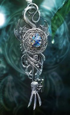 Blue Stone Dragon Key