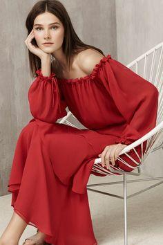 Red Latino Dress SS16