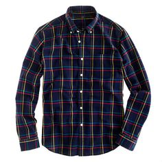 Oxford plaid shirt in royal indigo from J.Crew #jcrew #oxford #plaid #shirt #menswear #fashion #style #potamkinnyc #nyc