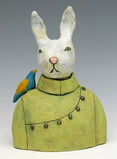 clay ceramic sculpture animal by sara swink