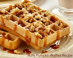 Waffle Recipe – Nutty Pumpkin Waffles