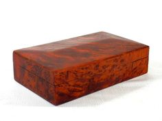Tiger Maple Wooden Jewelry Box with Sculpted and Dome Top