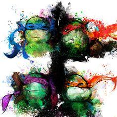 thecyberwolf:  Ninja Turtles - Fan Art Created byJason...