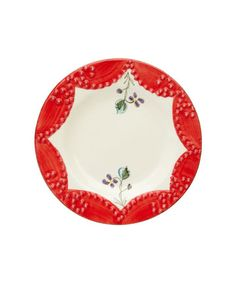 red & violets #red #plate