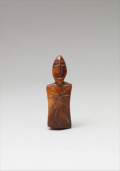 Walrus ivory figurePunuk culture, Alaska, 2nd–4th century Height 1-7/8 in. (4.7 cm) From the Metropolitan Museum of Art