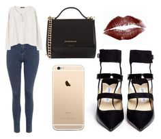 """Sin título #587"" by immoverthemoon on Polyvore featuring moda, Topshop, MANGO, Jimmy Choo, Givenchy y Luna Skye"