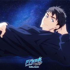 sousuke yamazaki night sky with moon and stars 🌌 Free Eternal Summer, Otaku, Makoto, Good Anime Series, Splash Free, Free Iwatobi Swim Club, Free Anime, Animation, Slayer Anime