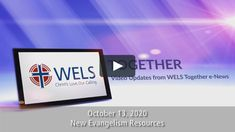Rev. Eric Roecker, the director of WELS Commission on Evangelism, shares new outreach opportunities for WELS members. Learn more about a brand new resource known…