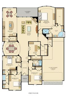 Jade New Home Plan in Johnson Ranch: Brookstone II Signature & TX Reserve by Lennar My House Plans, House Layout Plans, Family House Plans, House Layouts, House Floor Plans, Dream Home Design, Home Design Plans, House Design, Building Plans
