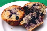 Gluten Free Blueberry Muffins ~make vegan, sub almond flour for rice bran.  The texture of these was off and they were heavy.  Didn't like 'em.