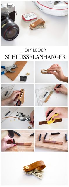 67 Ideas Diy Geschenke Oma For 2019 Leather Accessories, Leather Jewelry, Leather Craft, Diy Accessoires, Diy Gifts For Him, Leather Keyring, Ideias Diy, Diy Keychain, Bijoux Diy