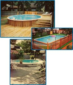 Images of buried doughboy pools 12x24 above ground pool for Above ground pool decks houston tx