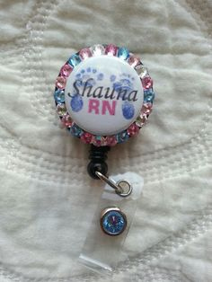 Newborn Feet Retractable Badge Holder for your Work ID by Lve2Cre8, $10.99