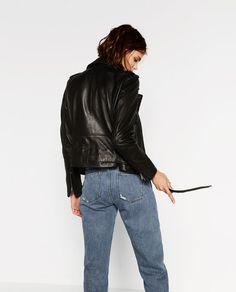 Image 4 of LEATHER JACKET from Zara