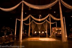 Swag Draping for an entrance. The Factory - Jamison Hall Wedding1-403